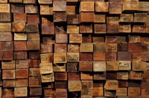 Palets nuevos de madera